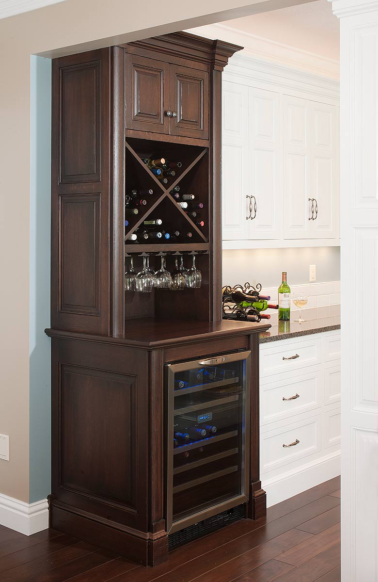 What type of cabinet surface will a wine cooler fit in What can i put on my sideboard